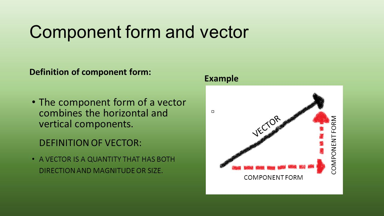 Component form and vector