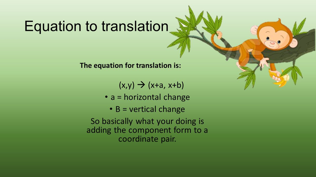 Equation to translation