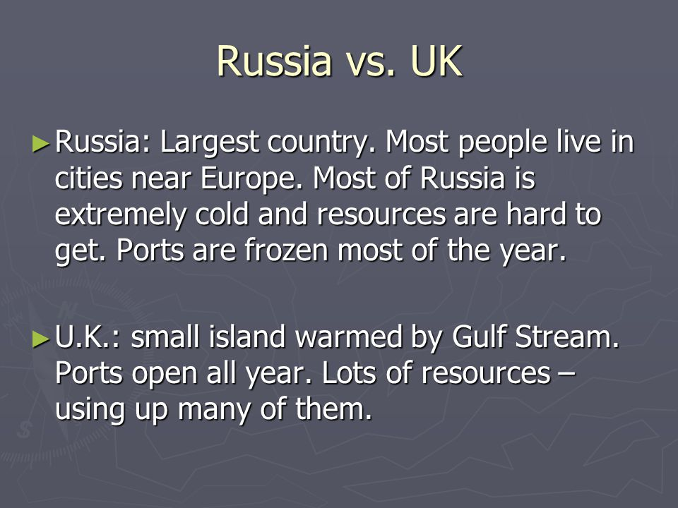 Russia vs. UK