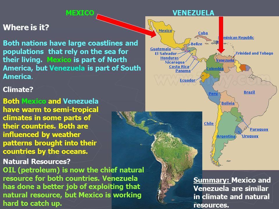 Where is it MEXICO VENEZUELA