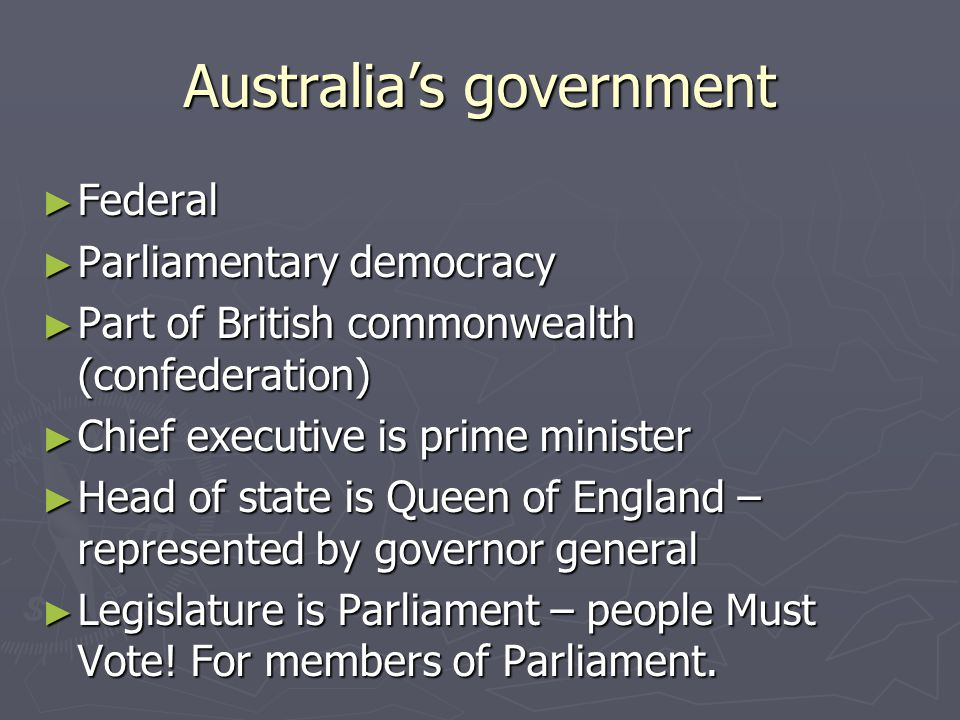 Australia's government