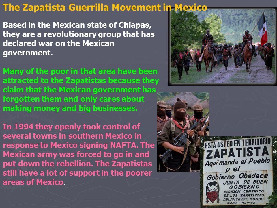 The Zapatista Guerrilla Movement in Mexico