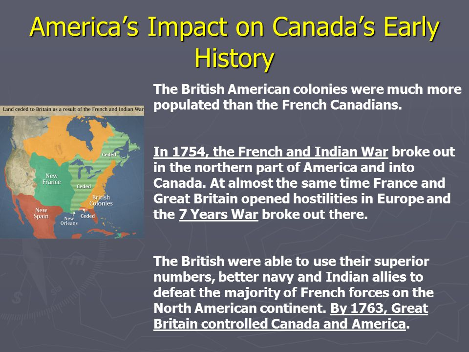 America's Impact on Canada's Early History