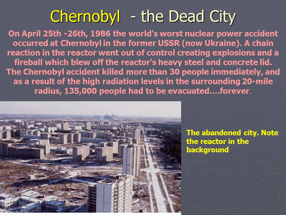 Chernobyl - the Dead City