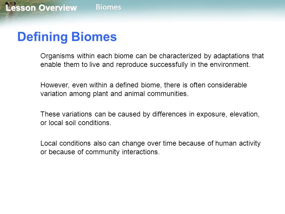 Defining Biomes