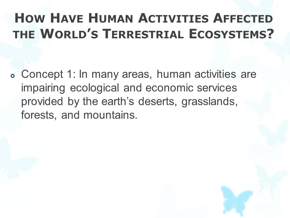 How Have Human Activities Affected the World's Terrestrial Ecosystems