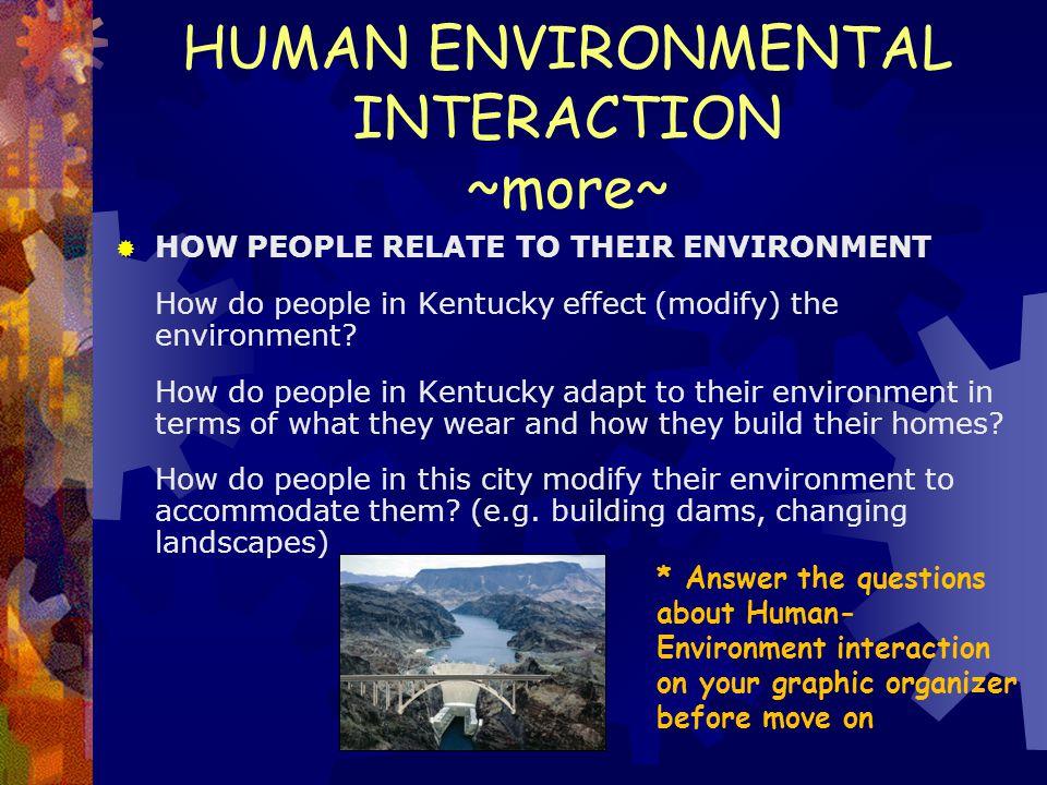 HUMAN ENVIRONMENTAL INTERACTION ~more~
