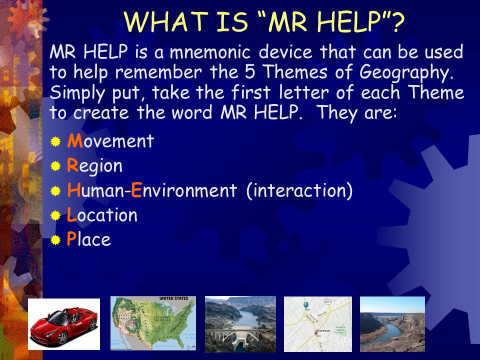 WHAT IS MR HELP