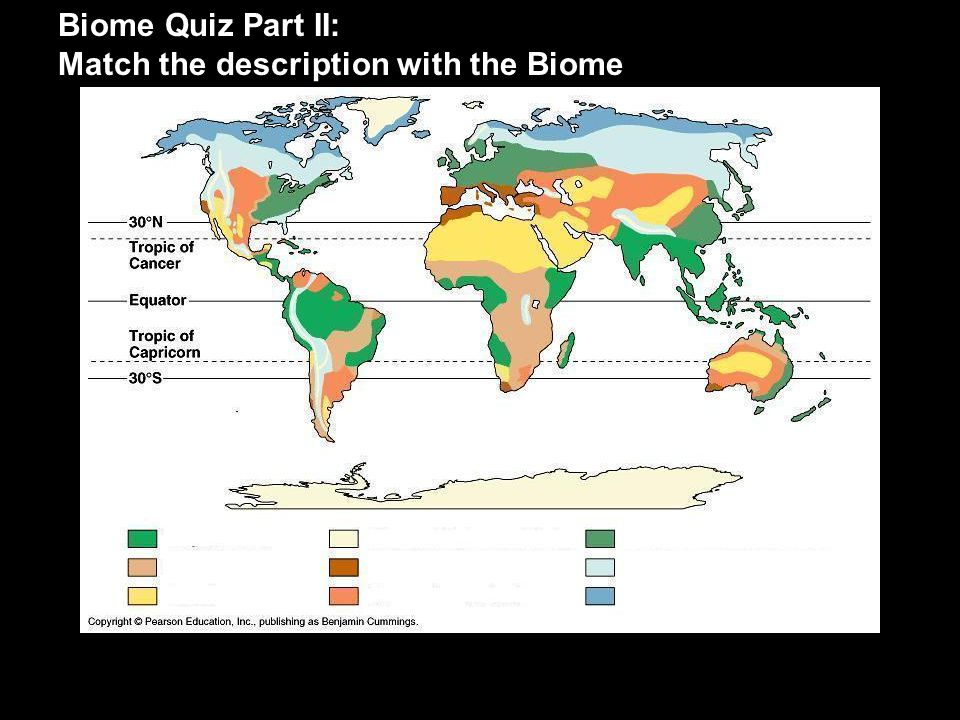 Biome Quiz Part II: Match the description with the Biome