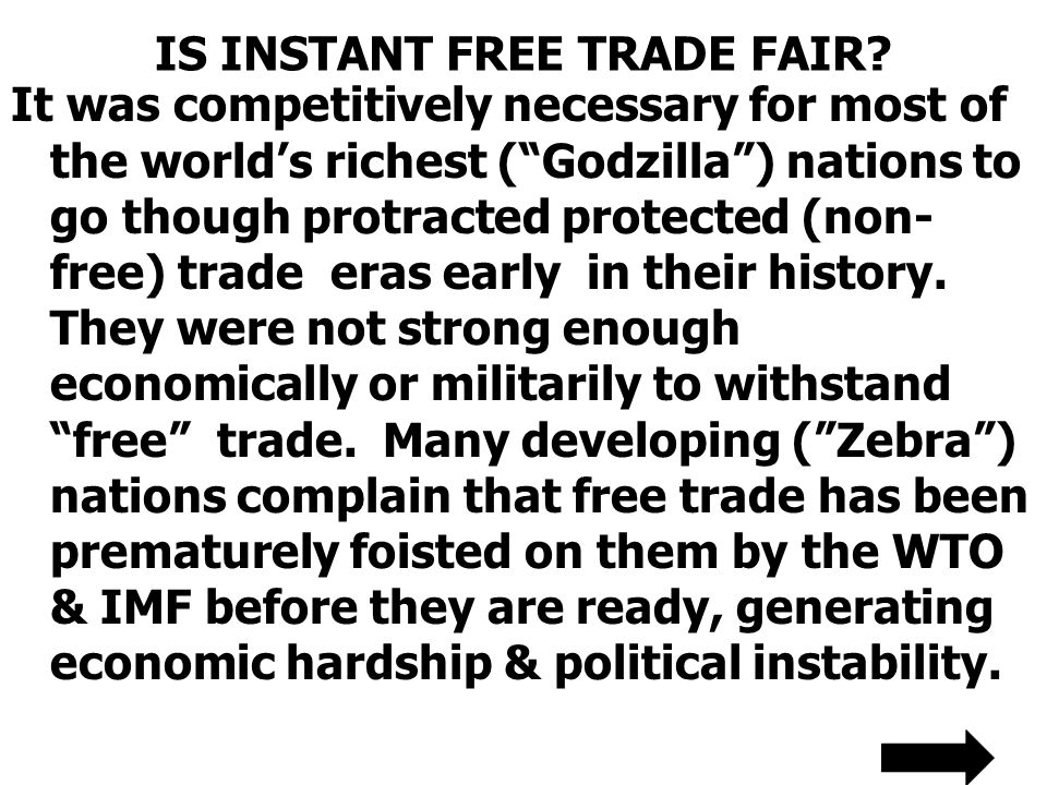 IS INSTANT FREE TRADE FAIR