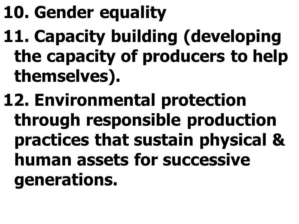 10. Gender equality 11.