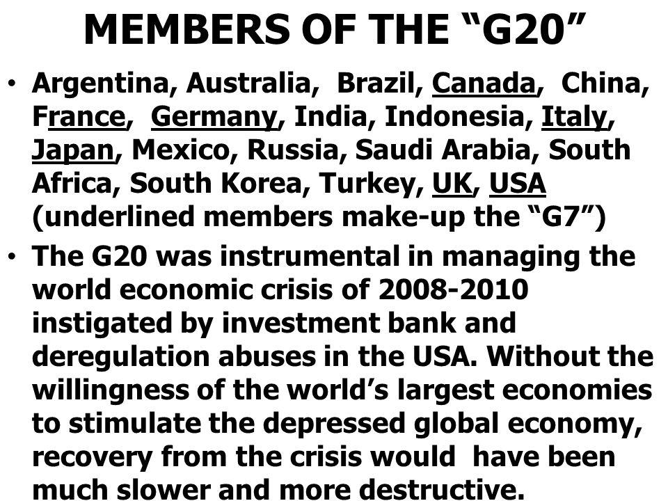 MEMBERS OF THE G20