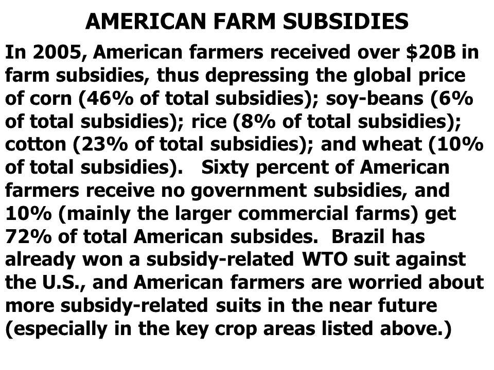 AMERICAN FARM SUBSIDIES