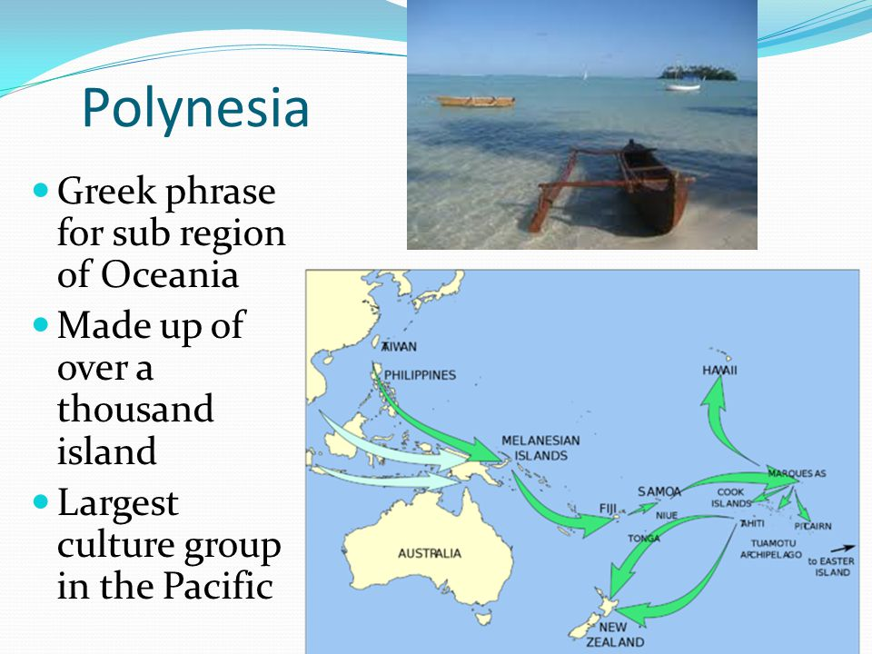 Polynesia Greek phrase for sub region of Oceania