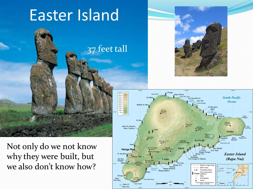 Easter Island 37 feet tall
