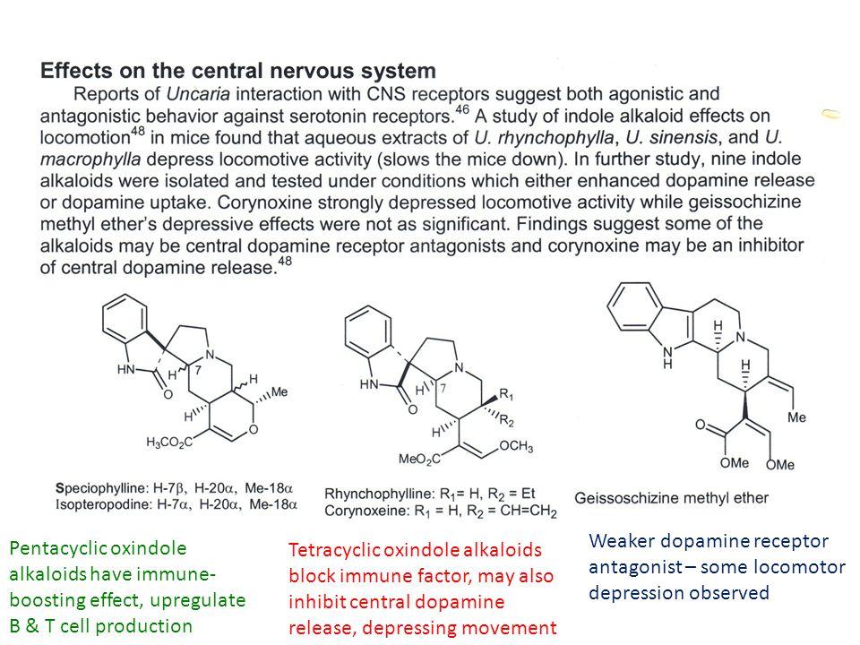 Weaker dopamine receptor