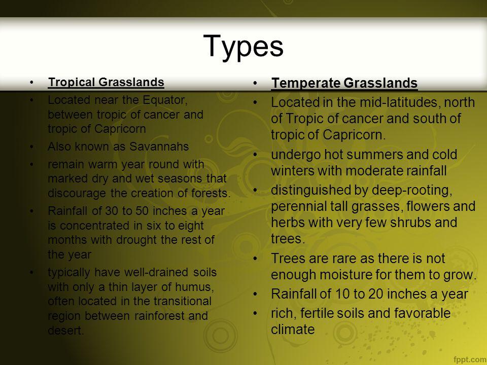 Types Temperate Grasslands