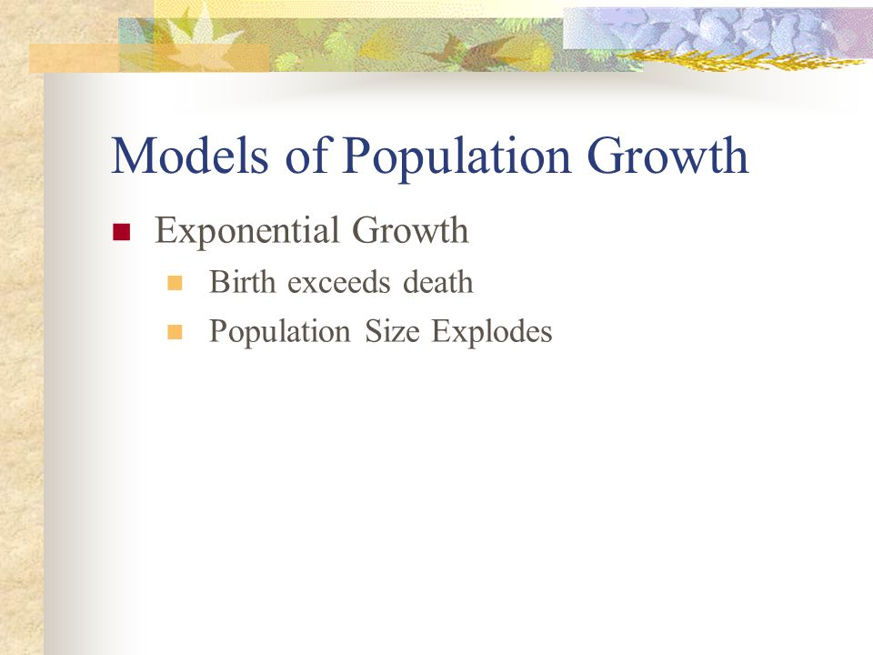 Models of Population Growth