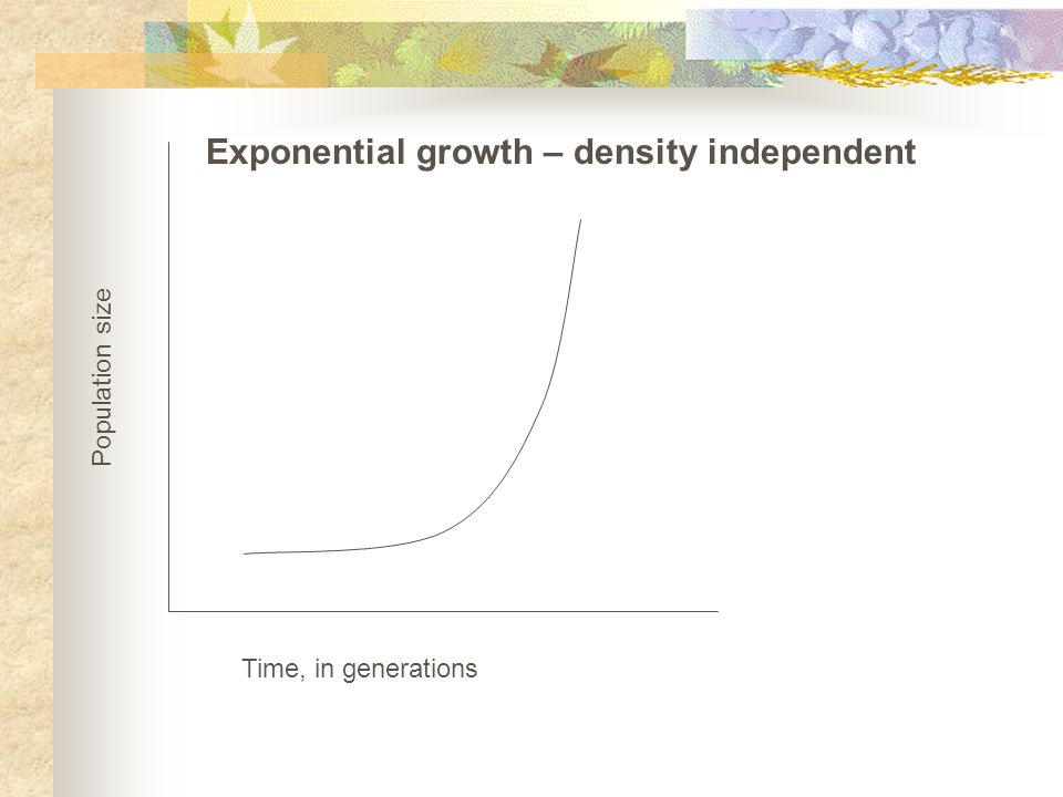 Exponential growth – density independent