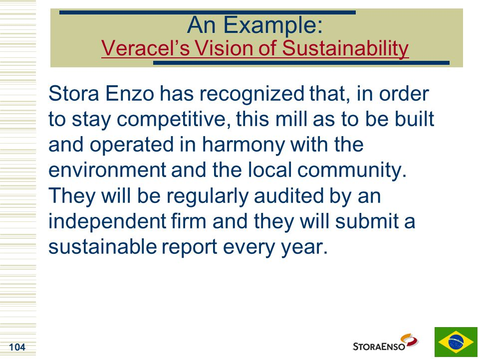An Example: Veracel's Vision of Sustainability