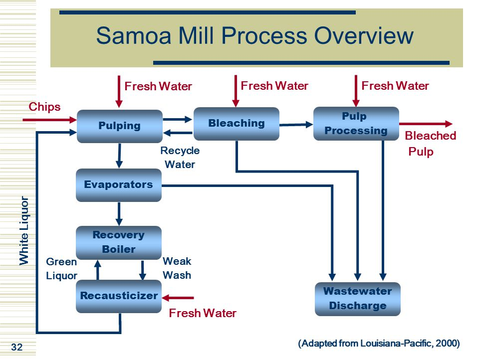 Samoa Mill Process Overview