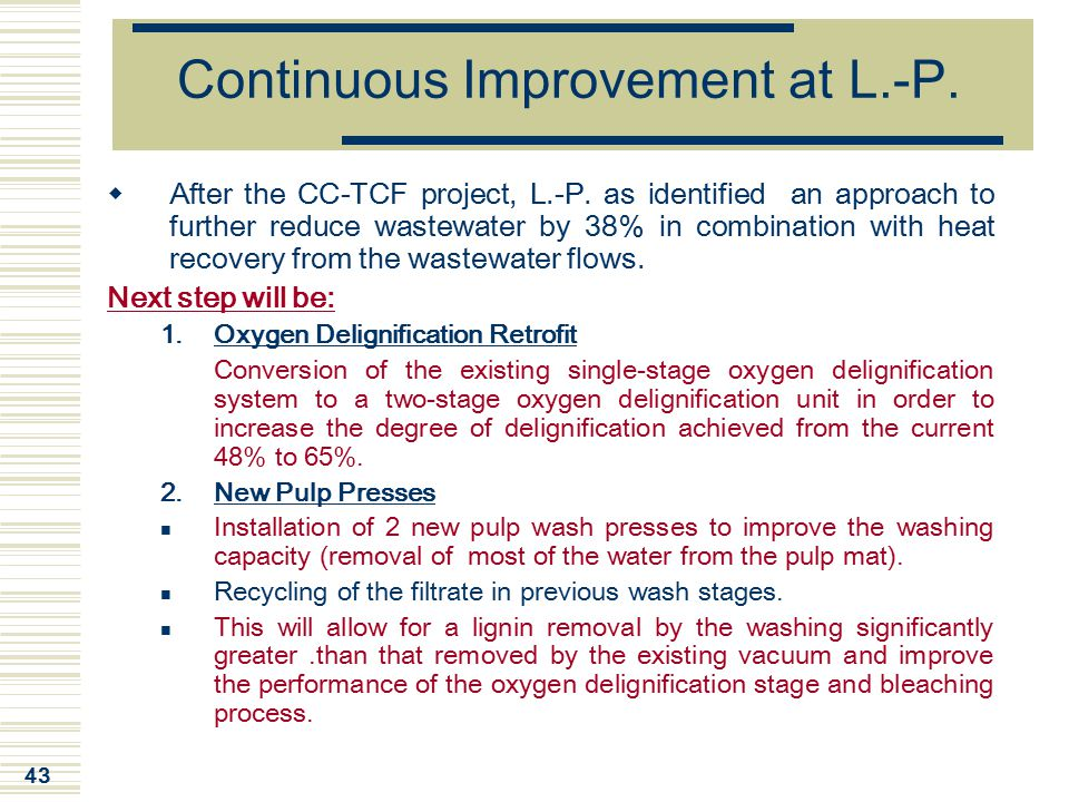 Continuous Improvement at L.-P.