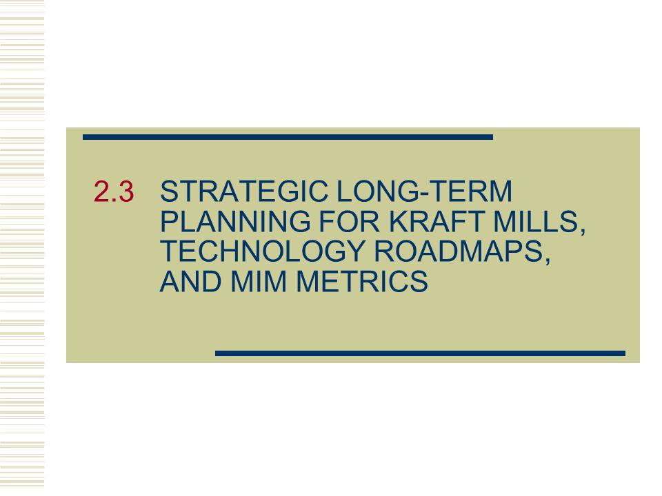 2. 3. STRATEGIC LONG-TERM. PLANNING FOR KRAFT MILLS,