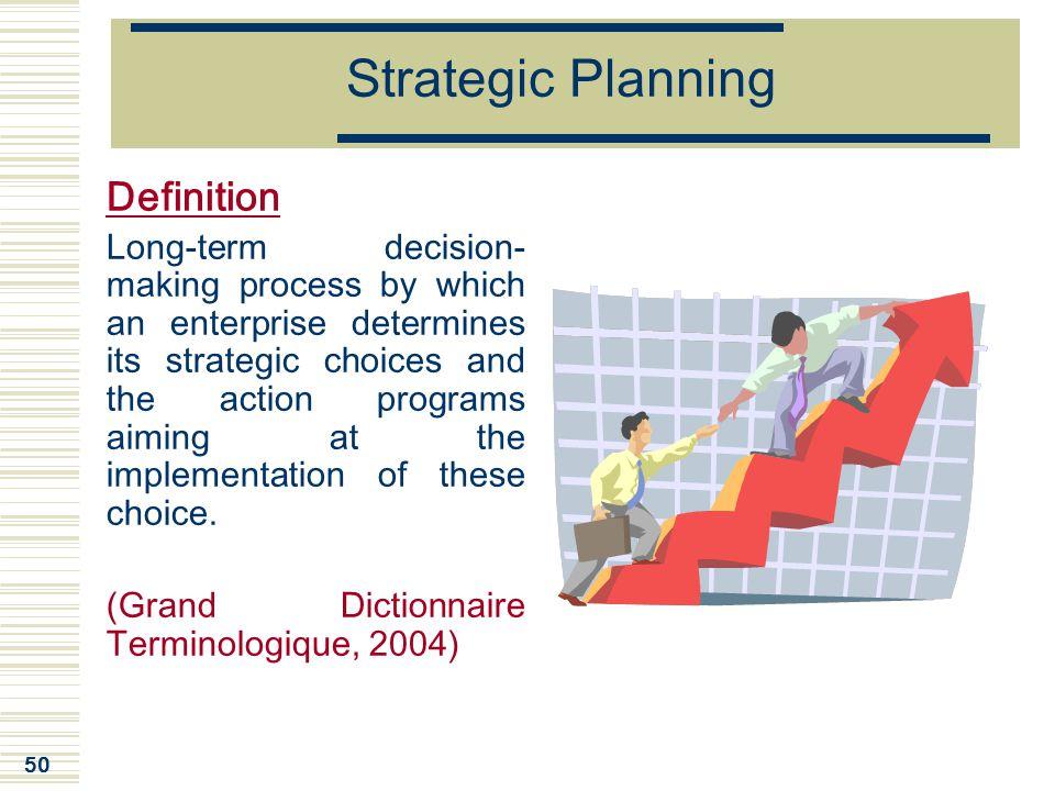 Strategic Planning Definition
