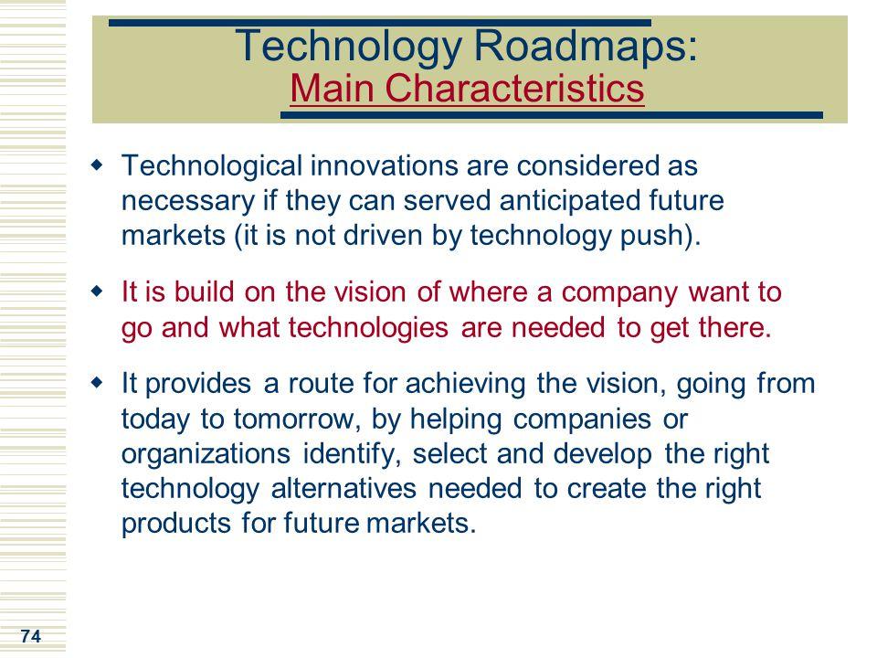Technology Roadmaps: Main Characteristics
