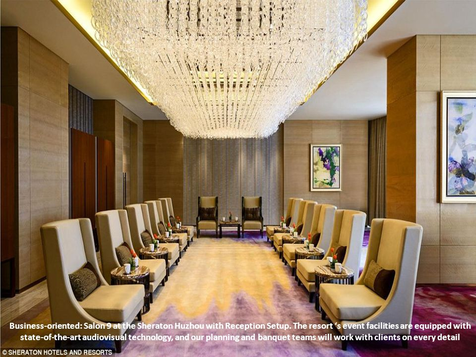 Business-oriented: Salon 9 at the Sheraton Huzhou with Reception Setup