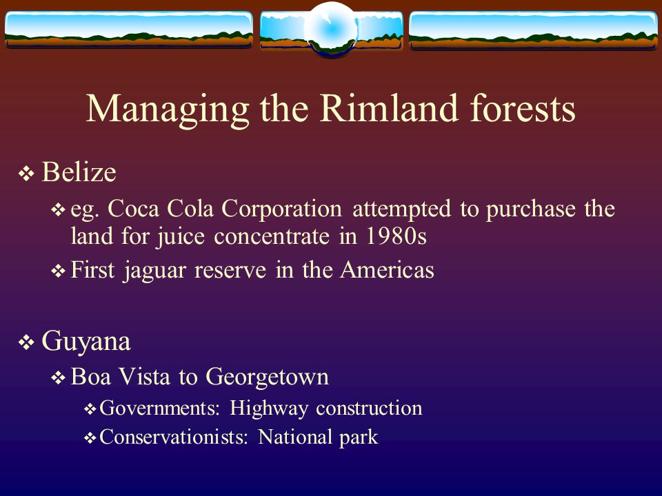 Managing the Rimland forests