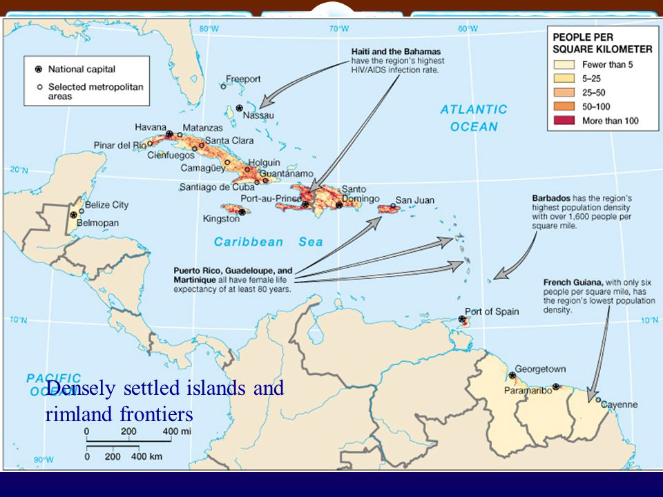 Densely settled islands and rimland frontiers