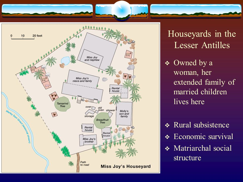 Houseyards in the Lesser Antilles