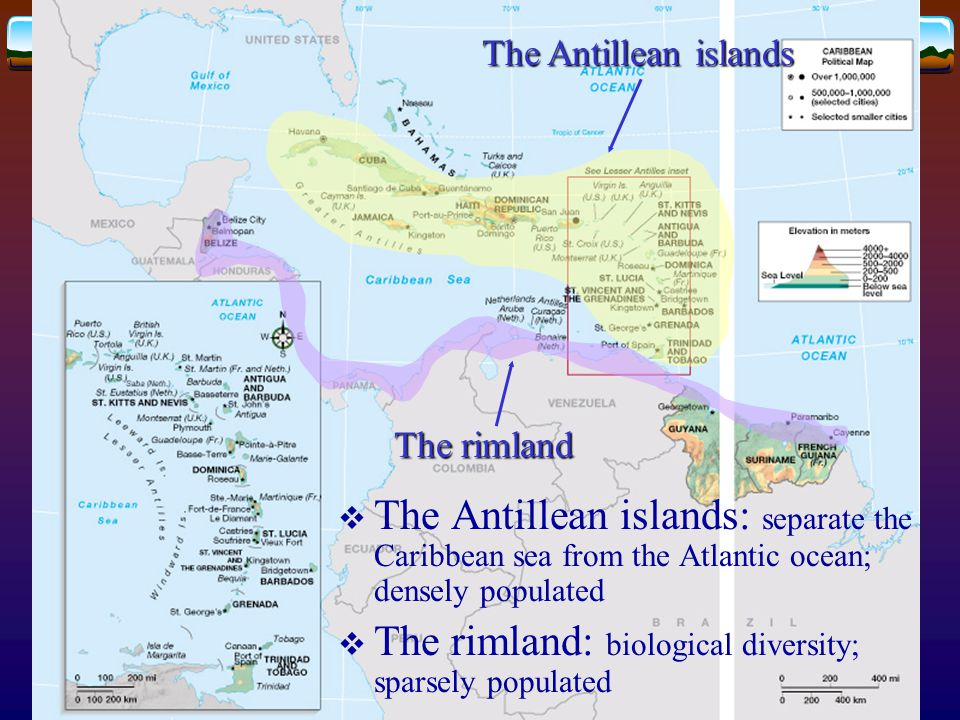 The rimland: biological diversity; sparsely populated
