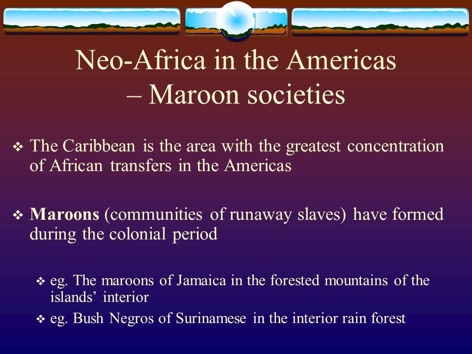 Neo-Africa in the Americas – Maroon societies
