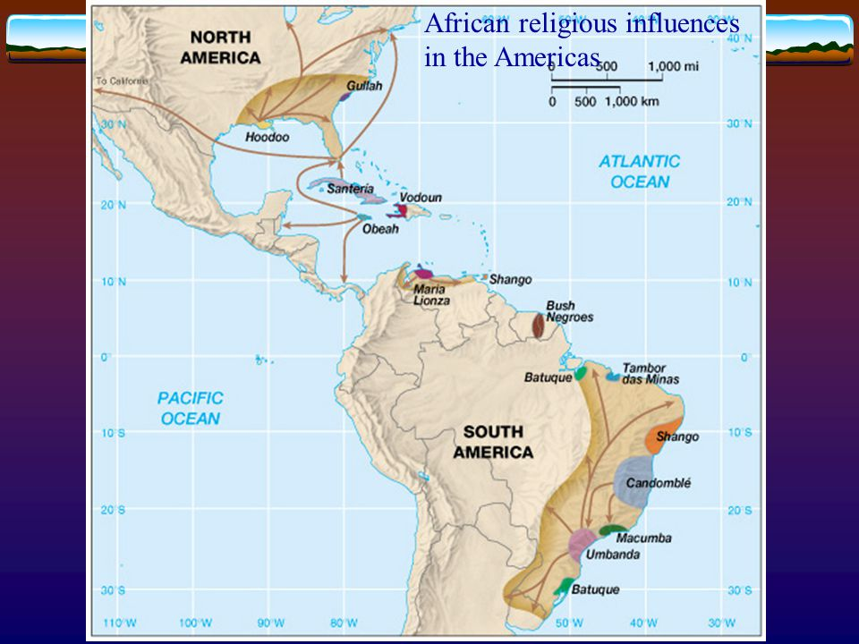 African religious influences in the Americas