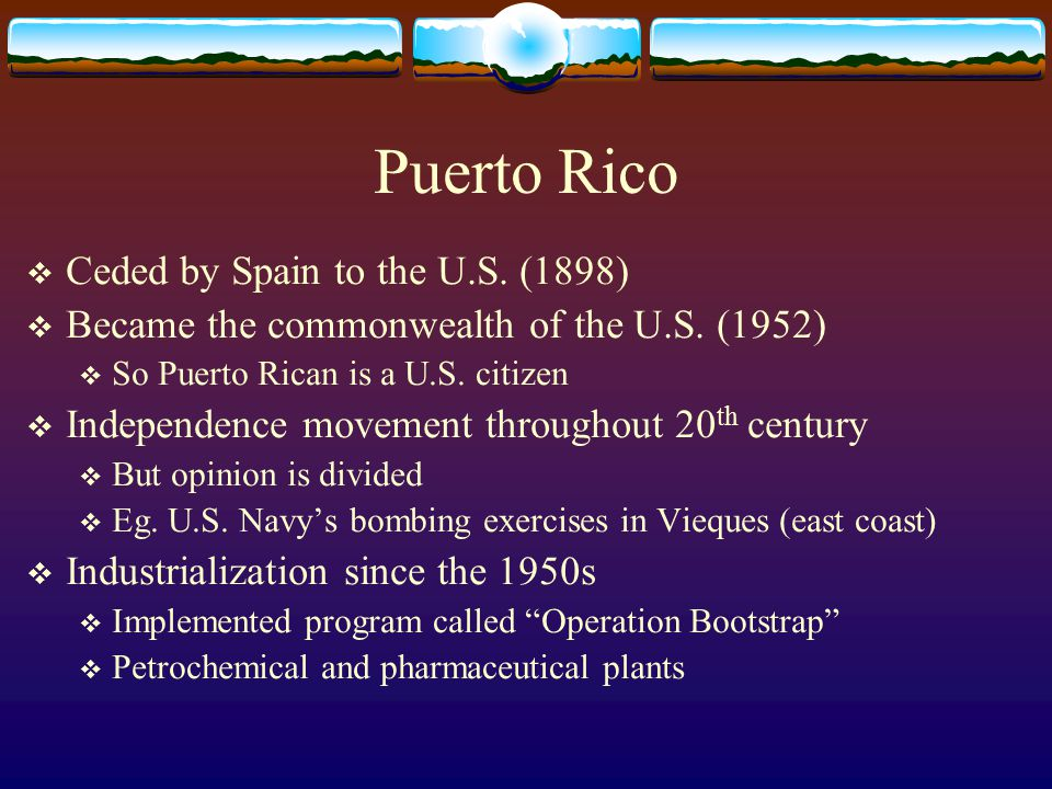 Puerto Rico Ceded by Spain to the U.S. (1898)