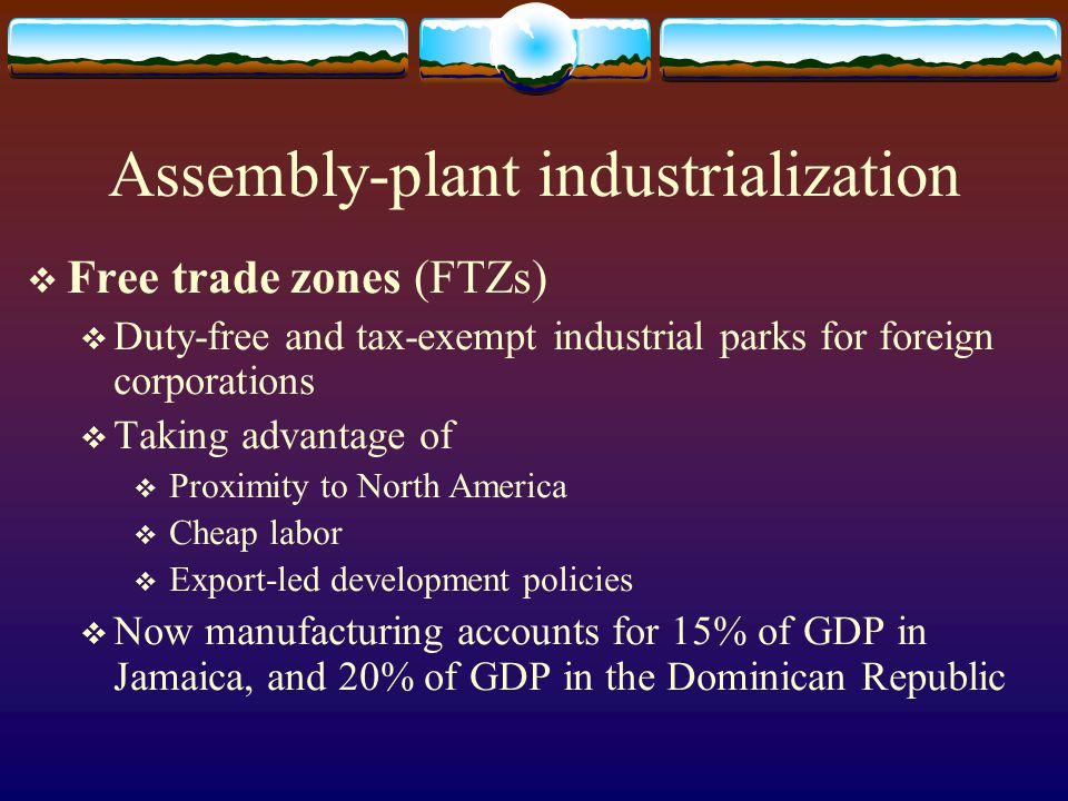Assembly-plant industrialization