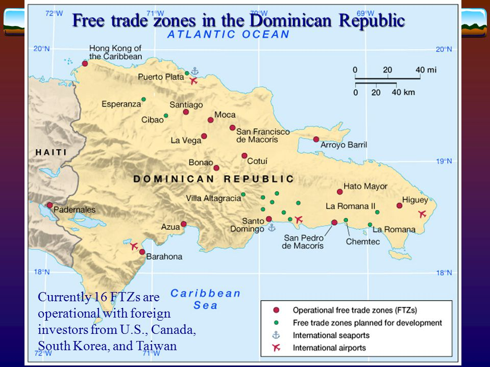 Free trade zones in the Dominican Republic