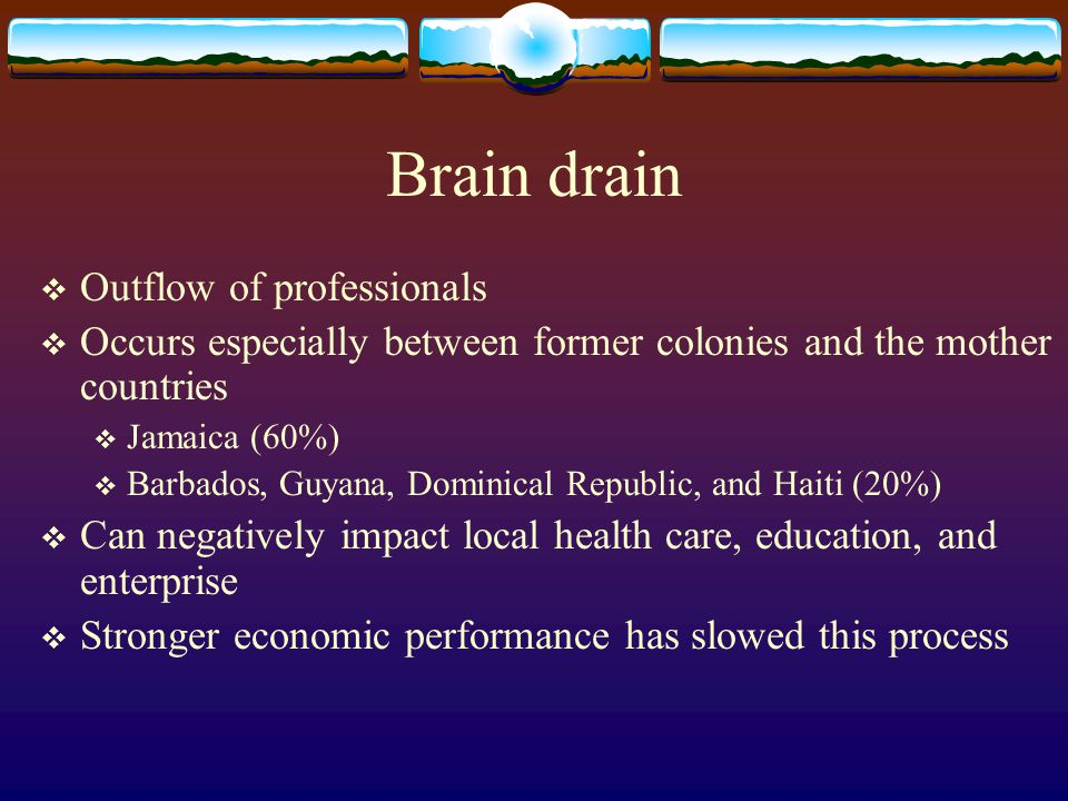 Brain drain Outflow of professionals