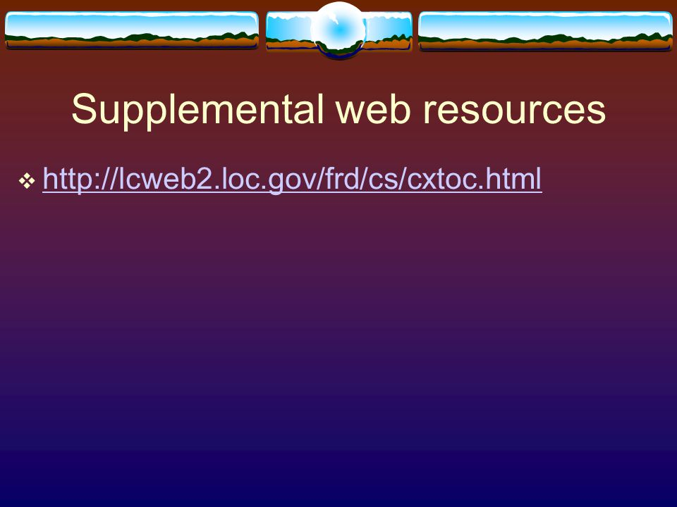 Supplemental web resources