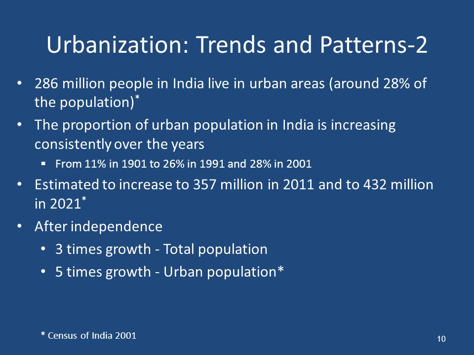 Urbanization: Trends and Patterns-2