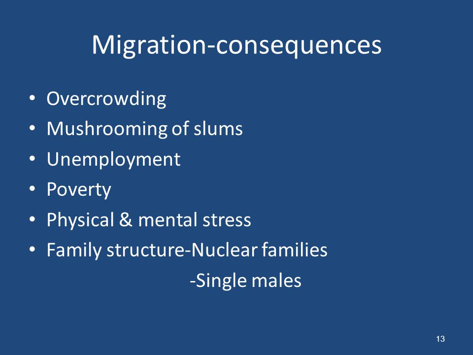 Migration-consequences
