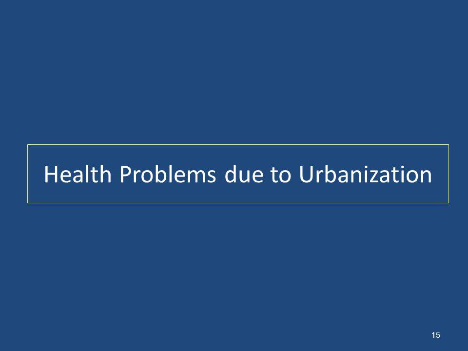 Health Problems due to Urbanization