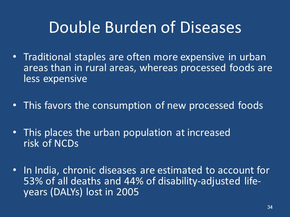 Double Burden of Diseases