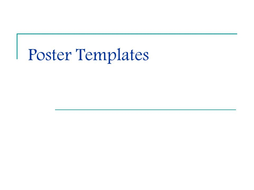 Poster Templates