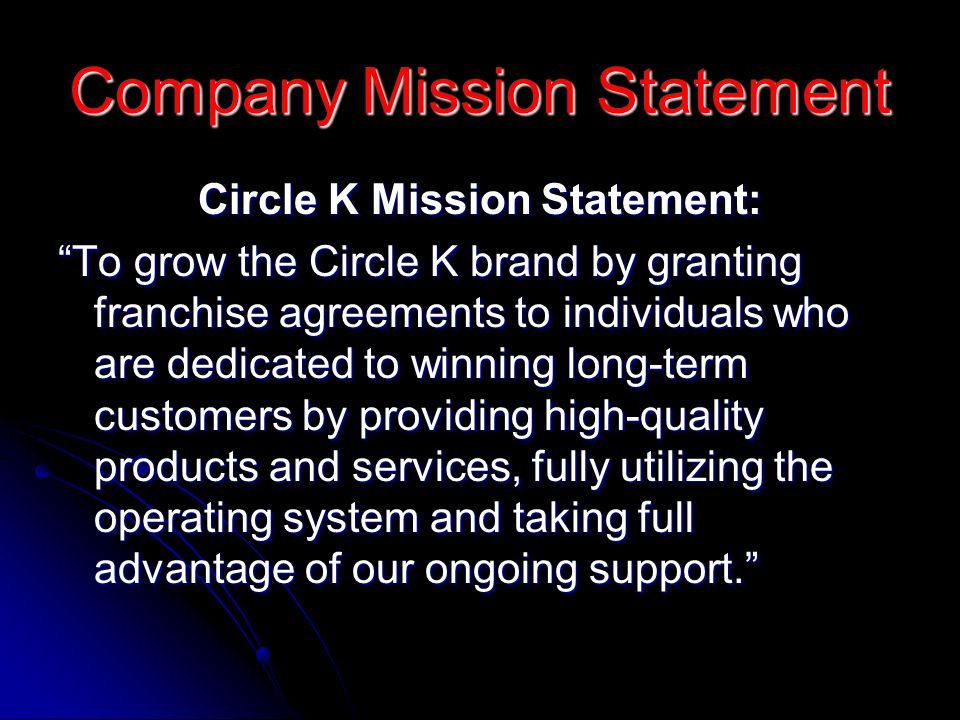 Company Mission Statement