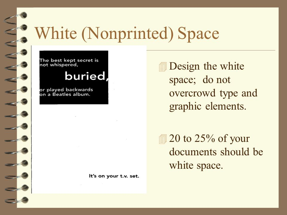White (Nonprinted) Space