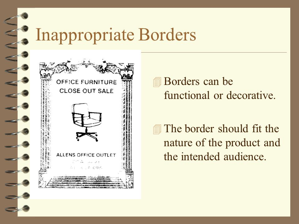 Inappropriate Borders
