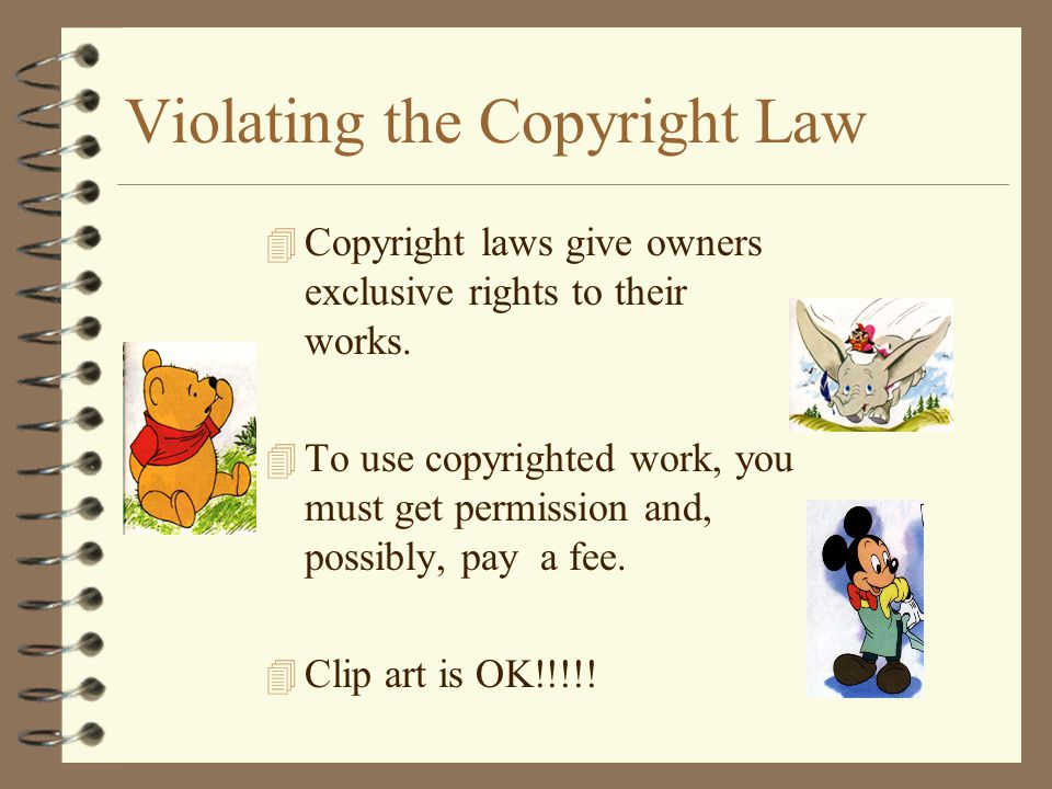 Violating the Copyright Law